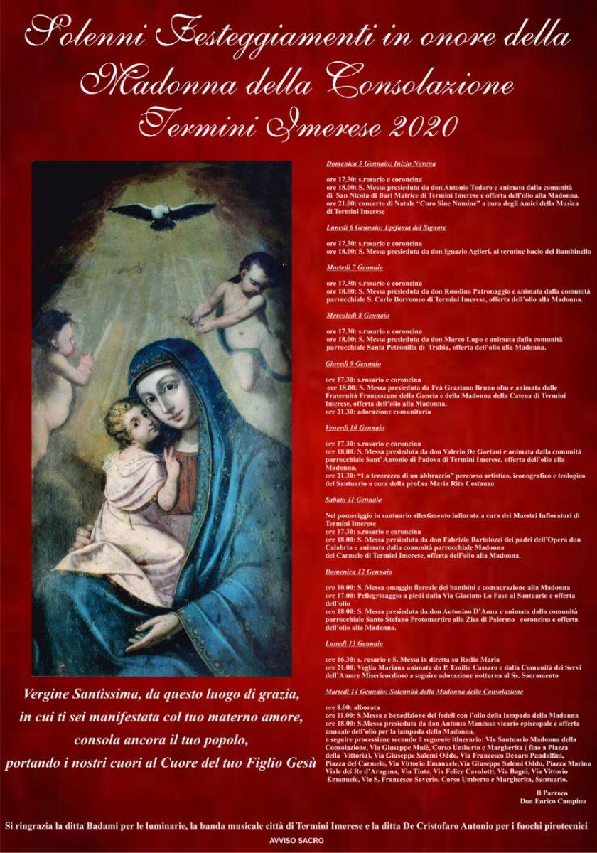 festeggiamenti in onore della Madonna della Consolazione