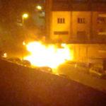 Termini Imerese nel degrado: auto in fiamme nella notte FOTO E VIDEO