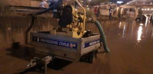 alluvione palermo, idrovora, protezione civile