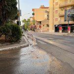 Termini Imerese: andati persi centinaia di metri cubi d'acqua tra la via Falcone e Borsellino e la via Jevolella FOTO E VIDEO