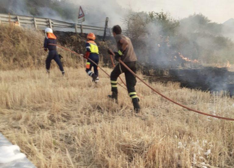 Vasto incendio sulla SS 113 a Termini Imerese: al lavoro Protezione Civile e Vigili del fuoco