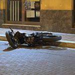 Termini Imerese: incidente nella notte, un motociclista ferito FOTO