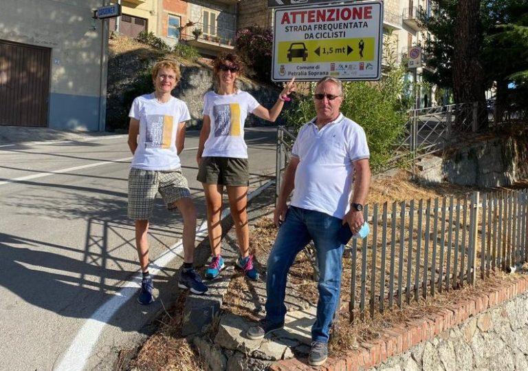 Paola Gianotti a Petralia Soprana per la sicurezza dei ciclisti sulle strade