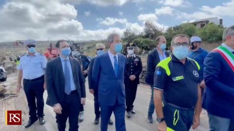 Pantelleria, conclusa visita di Musumeci: Regione delibererà stato di calamità e chiederà a Roma stato di emergenza