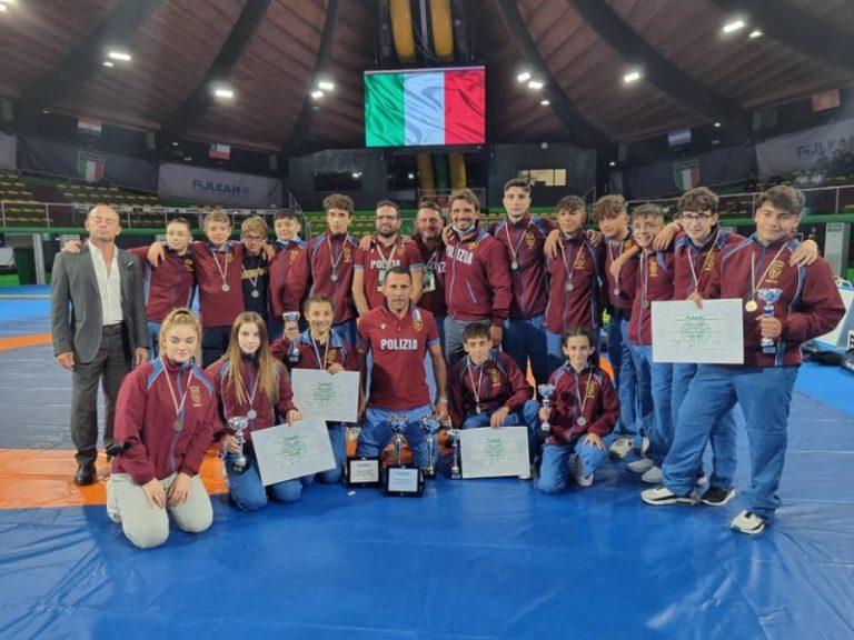 Gli atleti delle Fiamme Oro Termini Imerese protagonisti ai campionati italiani di lotta olimpica